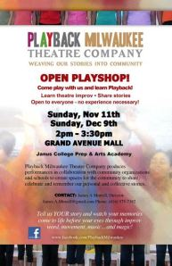 Playback Theatre in Milwaukee at Janus College Prep & Arts Academy
